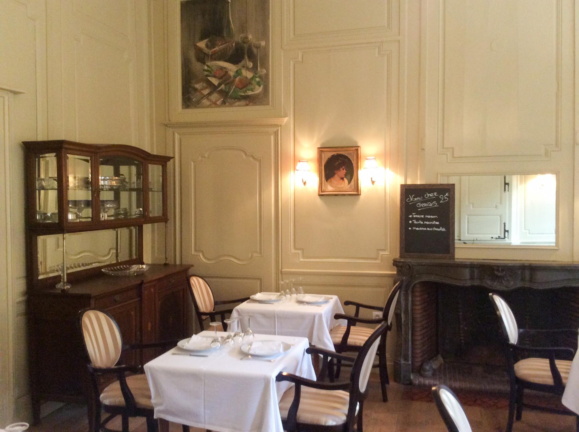 Restaurant Chez Gervais Chenecey Menu