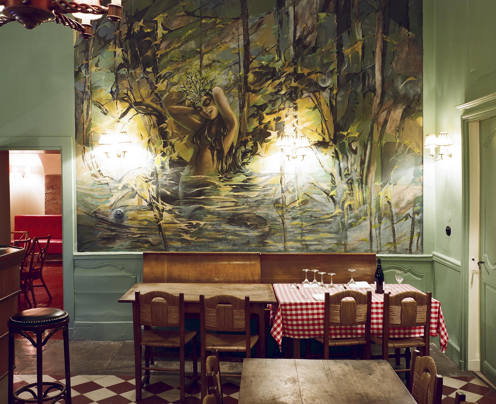 Restaurant Chez Gervais Chenecey - fresque de la vouivre