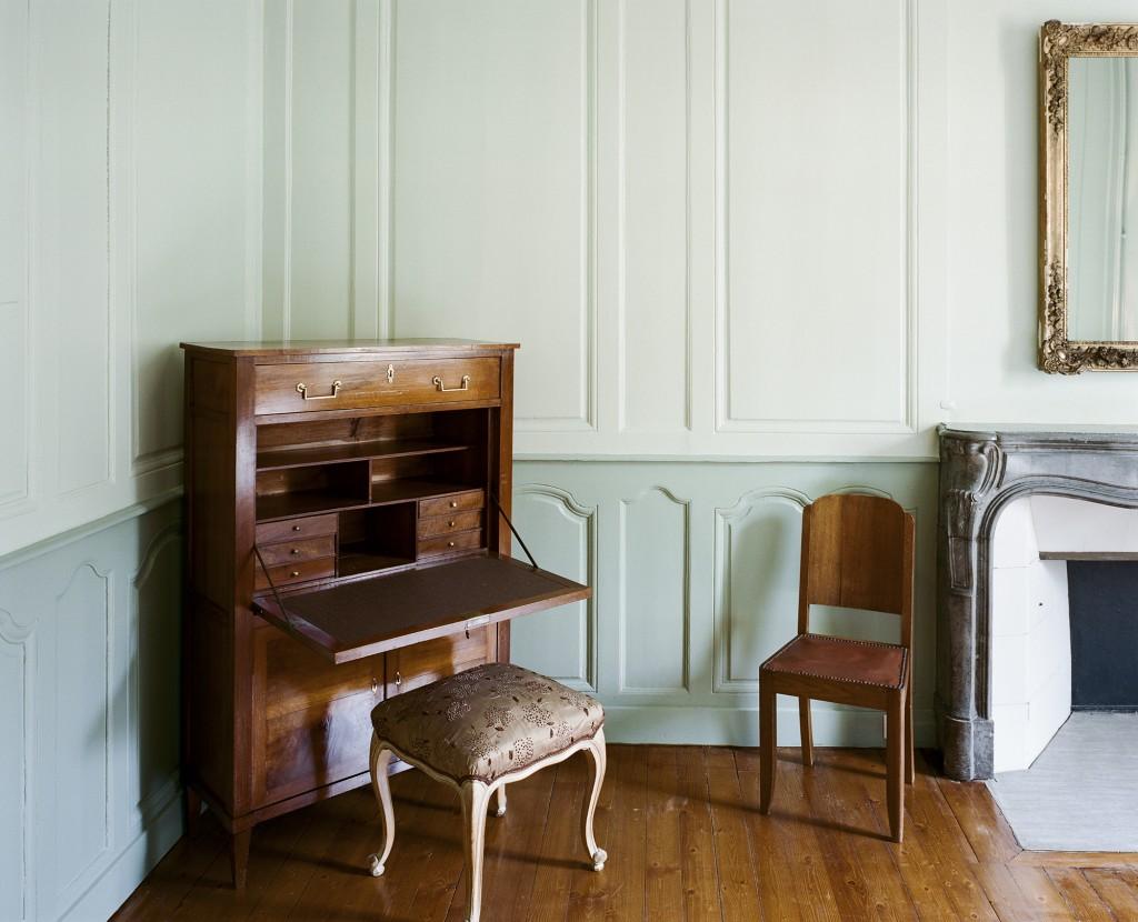chambre du marquis secrétaire d'époque - Hotel Chez Gervais Chenecey